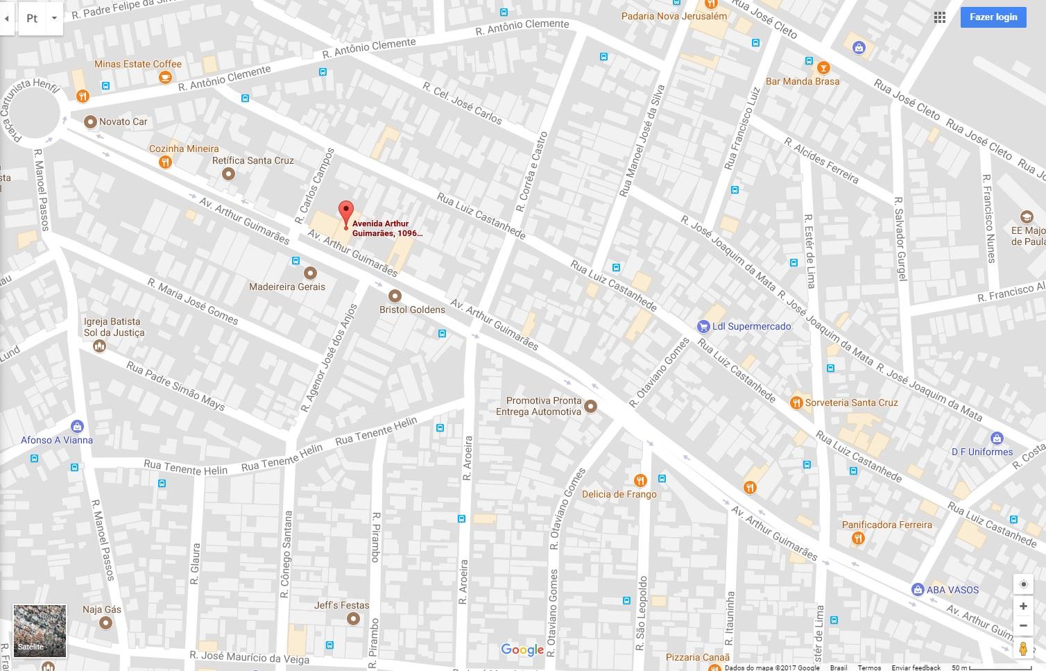 Padarias Próximas ao Hotel - Mapa